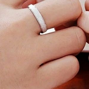Accessories - MEN'S WEDDING BAND RING STERLING SILVER MATTE RING
